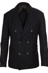 Lanvin Doublebreasted Virgin Wool Jacket in Blue for Men (navy) - Lyst