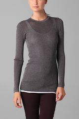 Vince Ribbed Metallic Sweater - Lyst
