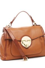 Michael by Michael Kors Margo Top-handle Tote, Luggage - Lyst