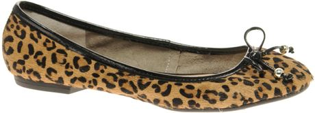 Dune Burden Ballet Flat in Animal (leopard) - Lyst