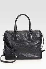 Prada Nappa Antique Leather Top Handle Satchel - Lyst