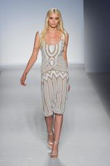 Alberta Ferretti Spring 2012 Semi Sheer Patterned Dress