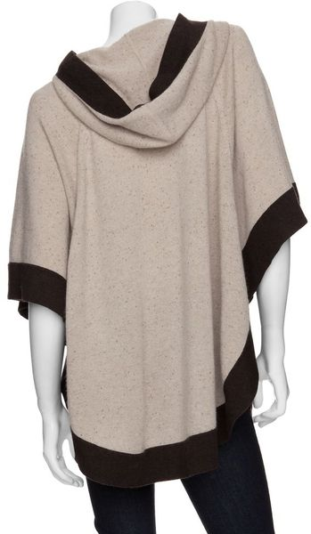Autumn Cashmere hooded poncho