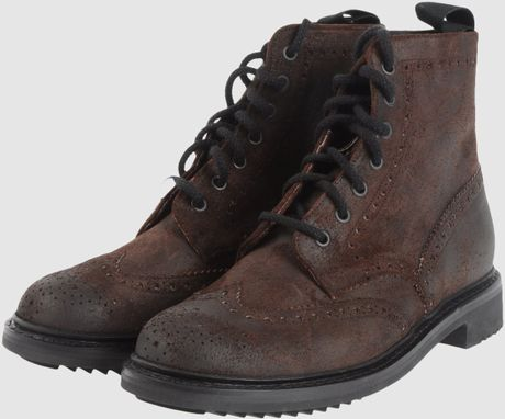 Car Shoe Carshoe Combat Boots In Brown For Men Lyst