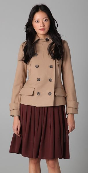 Club Monaco Lori Short Pea Coat - Lyst