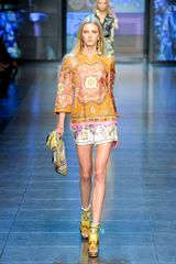 D&g Spring 2012 Multicolor Blouse in Orange - Lyst