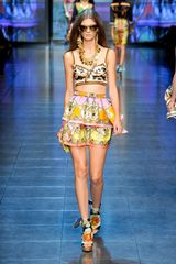 D&G Spring 2012 Multi Print Crop Top  - Lyst