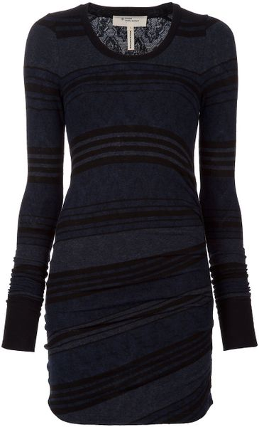 Etoile Isabel Marant Stripe Body-con Dress in Blue - Lyst