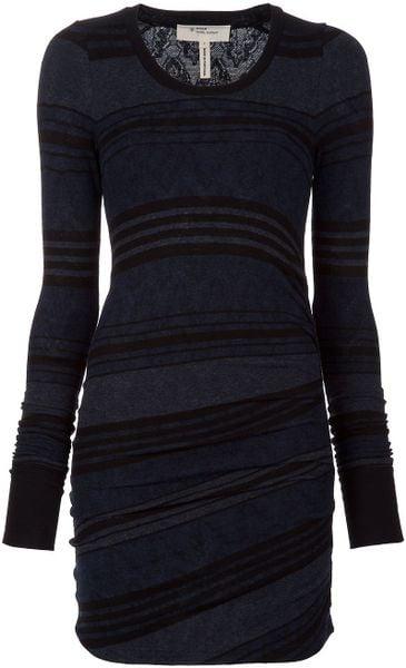 Etoile Isabel Marant Stripe Body-con Dress in Blue