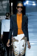 Gucci Spring 2012 Short Navy Jacket With Chain Closure  - Lyst