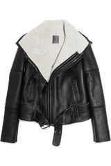 Lot78 Blake Shearling and Leather Biker Jacket - Lyst