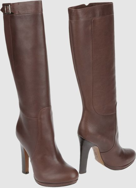 marni high heeled boots in brown lyst