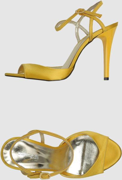 Obeline High Heeled Sandals in Gold (yellow) - Lyst