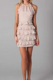 Rebecca Taylor Halter Dress with Lace Detail - Lyst