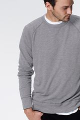 Slub French Terry Lightweight Fleece Sweatshirt - Lyst