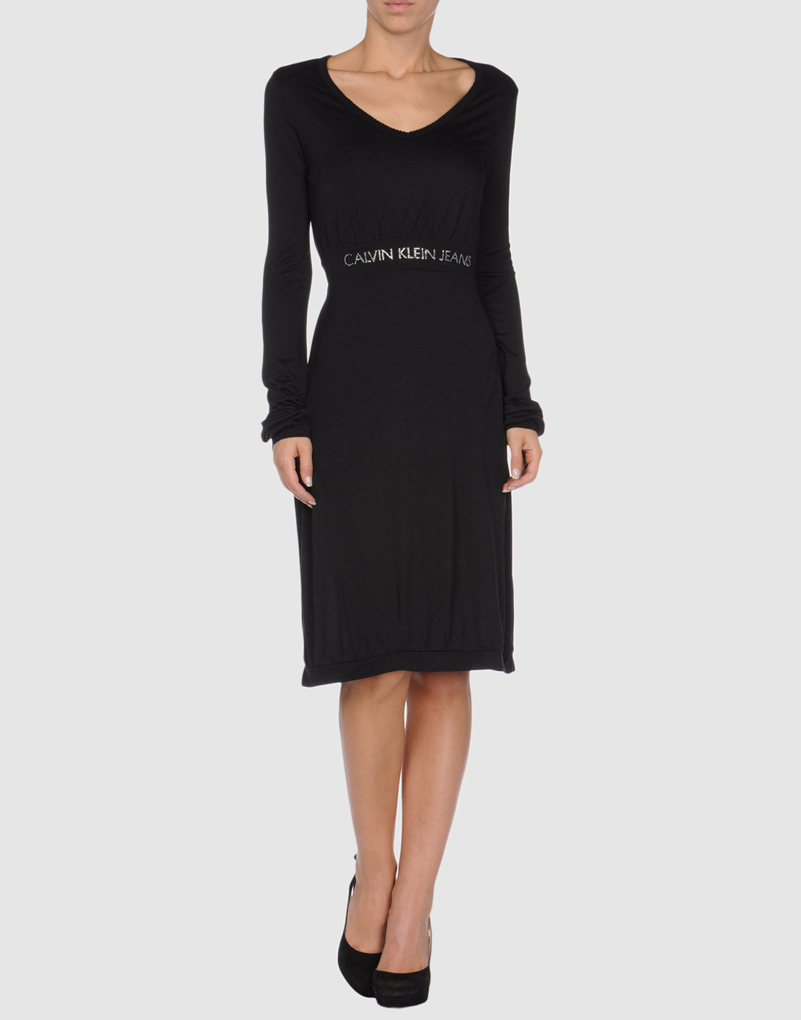 calvin klein dresses in black lyst