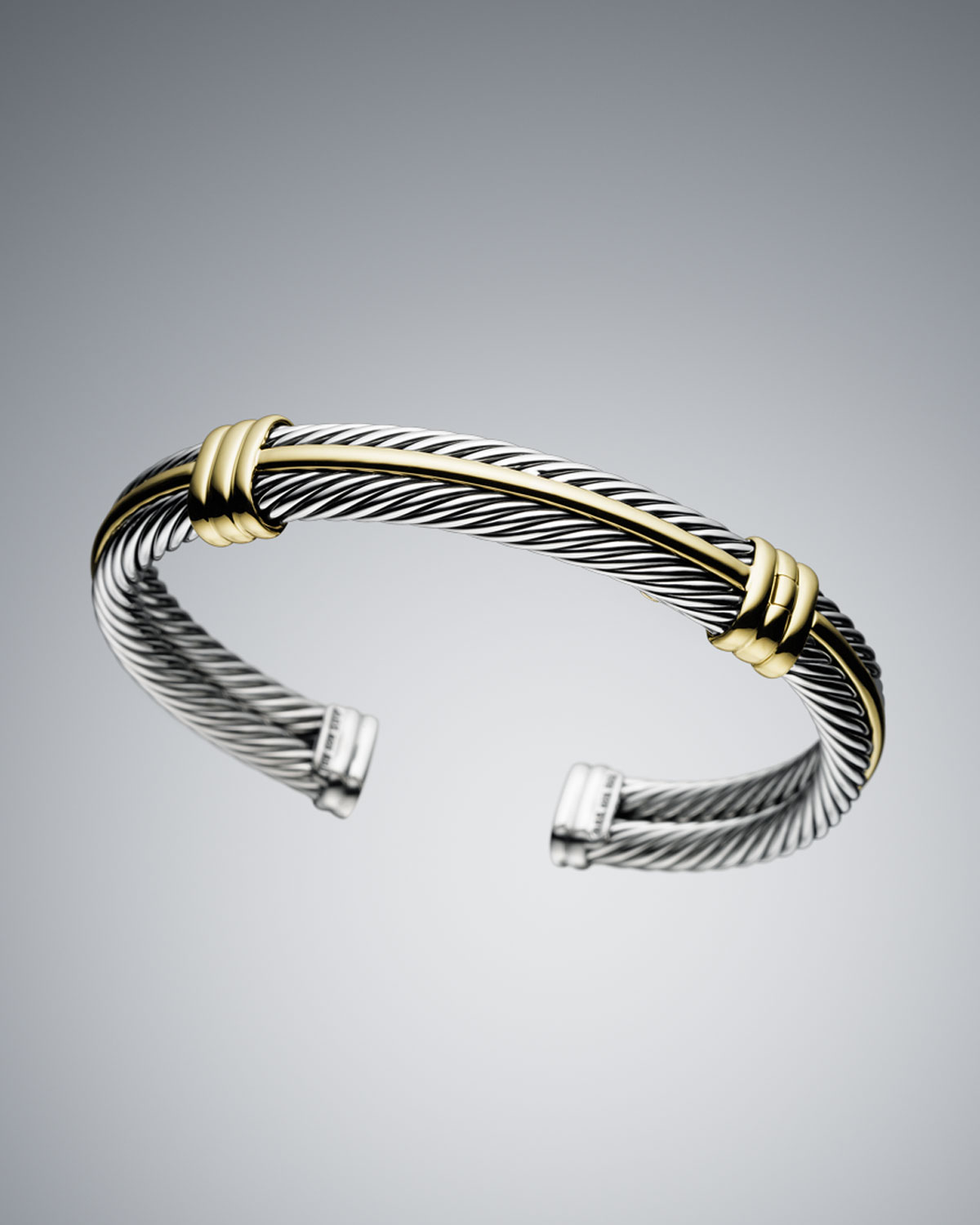 David Yurman Charm Bracelet: David Yurman 5mm Cable Classics Bracelet In Gold For Men