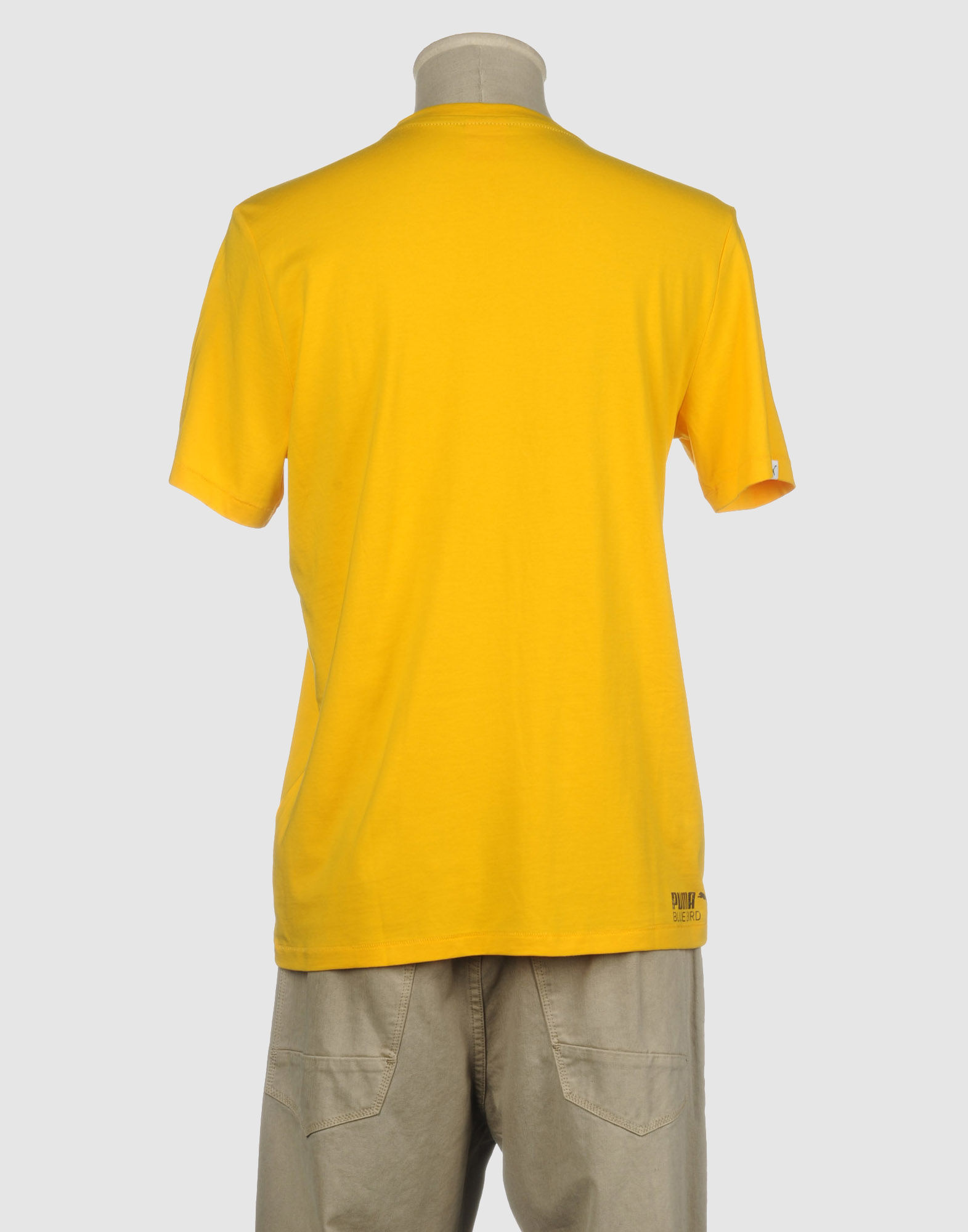 Puma Short Sleeve T Shirt In Yellow For Men Lyst