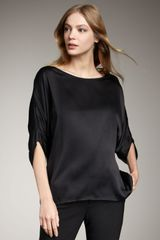 Vince Envelope Silk Blouse, Black - Lyst