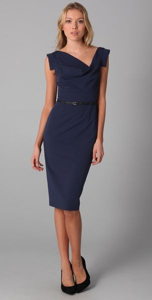 Black Halo Jackie O Dress in Blue (midnight) - Lyst