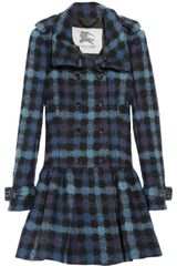 Burberry Checked Wool-felt Dropped Waist Coat - Lyst