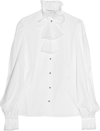 Emilio Pucci Ruffled Cotton-poplin Shirt - Lyst