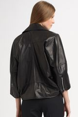 Junya Watanabe Leather Motorcycle Jacket in Black - Lyst