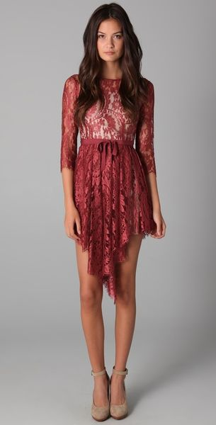 Lover Serpent Lace Dress - Lyst