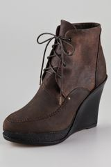 Rag & Bone Dolgan Wedge Booties - Lyst