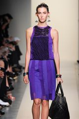 Bottega Veneta Spring 2012 Purple Sleeveless Pleated Dress with Plisse Details - Lyst