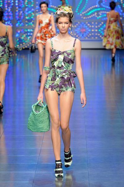 Dolce & Gabbana Spring 2012 Green High Heel Sandals in Green - Lyst