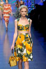 Dolce & Gabbana Spring 2012 Vegetable Print Bustier Top in Yellow - Lyst