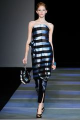 Giorgio Armani Spring 2012 High Heel Platform Strappy Sandals In Black - Lyst