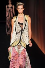 Roberto Cavalli Spring 2012 Peaked Lapel Sleeveless Jacket in Animal - Lyst