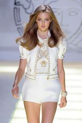 Versace High Waisted Short in White - Lyst