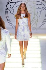 Versace Spring 2012 Starfish Printed Dress with Stud Detail - Lyst