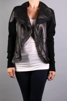 Yigal Azrouel Leather Jacket with Chain - Lyst