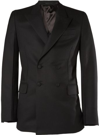Yves Saint Laurent Double-breasted Jacquard Suit Jacket - Lyst