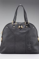 Yves Saint Laurent Oversize Muse Satchel, Black - Lyst