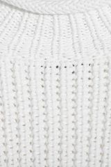 Alexander Wang Cottonblend Ribbed Rollneck Sweater in White - Lyst
