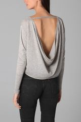 Girl. By Band Of Outsiders Cowl Back Sweater - Lyst