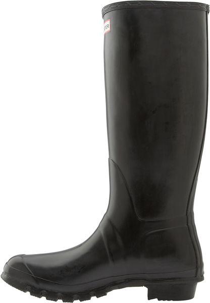 Hunter Original Tall Rain Boot Men In Black For Men Lyst