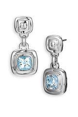 John Hardy Bedeg Silver Batu Small Square Drop Earrings - Lyst