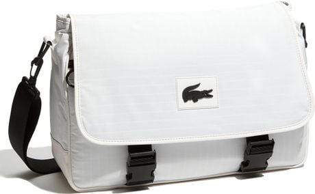 Lacoste Forest Hills Messenger Bag in White for Men