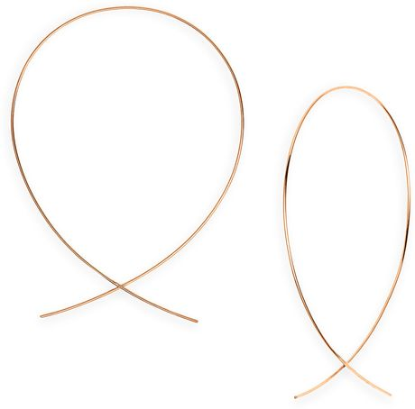 Lana Jewelry Large Upside Down Hoop Earrings in Gold (rose gold) - Lyst