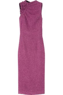 L'Wren Scott Ruched Silk-tweed Dress - Lyst