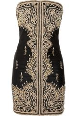 Manoush Embellished Silk Strapless Dress