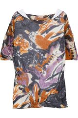 Marni Printed Cotton-jersey Top - Lyst