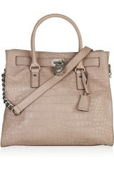 Michael by Michael Kors Hamilton Crocodile-effect Leather Tote - Lyst