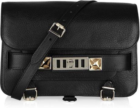 Proenza Schouler Ps11 Mini Classic Bag in Black (silver)